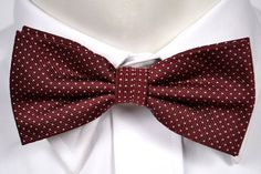 Pensee Mens Silk Classic Dark Blue Red White Striped Pre-tied Bow Ties