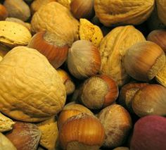 Mixed nuts in their shells