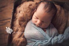 Newborn Fine Art Photos | Newborn Photographer | Meghan Vail Photography | Orlando Quality Newborn Photographer |  Blue and Beige Baby