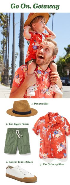 Stick to this formula & consider his packing list for every summer trip sorted. Our Getaway shirt is lightweight and breezy and comes in a slew of prints for guaranteed aloha vibes, wherever the weekend takes him. Mature Mens Fashion, Navy Shop, Jogger Shorts, Baby Boy Fashion, Classy And Fabulous, Maternity Wear, Affordable Fashion, Strand, Latest Fashion