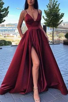 A Line V Neck Black Burgundy Prom Dresses, Black Wine Red Formal Evening Dresses. - A Line V Neck Black Burgundy Prom Dresses, Black Wine Red Formal Evening Dresses – Formal Dresses - Prom Dresses Under 100, Senior Prom Dresses, Prom Dresses With Pockets, Pretty Prom Dresses, Prom Outfits, Hoco Dresses, Black Prom Dresses, Tulle Prom Dress, Mode Outfits