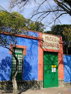 The blue House in Coyoacan, where Frida Kahlo and Diego Rivera lived from 1929-1954, now a museum.