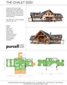 Purcell Timber Frame Homes - The Chalet 3000 - Home Package