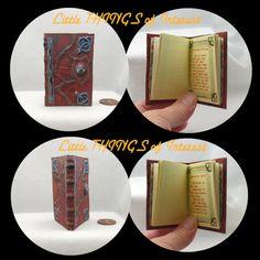 HOCUS POCUS SPELL Book in 1:3 Scale by LittleTHINGSinterest