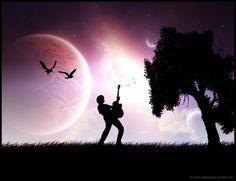 Rock under the moon by Pixelaze on deviantART