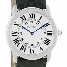 Women's Certified Pre-Owned Watches - Cartier Ronde quartz womens Watch W6700255 Certified Preowned >>> To view further for this item, visit the image link.