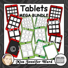 A huge bundle that contains tablets/iPads with and without apps in plain and shaded colours! What's included? Clipart: 132 Format: Lineart (black and white) and Colour Type: .png DPI: 300 Background: transparent Bundle includes: * Tablets Plain Colours * Tablets Shaded Colours * Tablets with 4 Apps Set 1 * Tablets with 4 Apps Set 2 * Tablets with 9 Apps Set 1 * Tablets with 9 Apps Set 2 * Tablets with 16 Apps Set 1 * Tablets with 16 Apps Set 2 Terms of use: Click here...