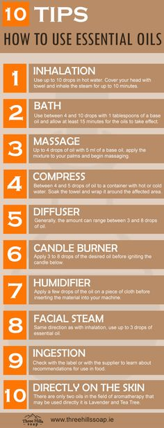 10 Tips How to Use Essential Oils