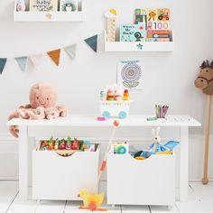 White Play Table with Storage Boxes | JoJo Maman Bebe