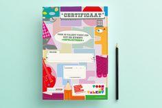 Certificaat Toon je Talent // Illustratie en design by Bomkracht