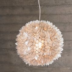 lotus flower pearl chandelier