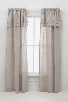 linen curtains. love.