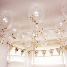 Black and Gold Confetti Balloons....Do with silver