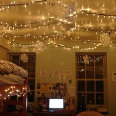 christmas lights in bedroom ideas - Google Search