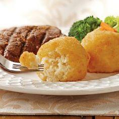 Au Gratin Potato Balls @keyingredient #cheese