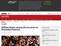William Hague among 45 new peers in dissolution honours - BBC News