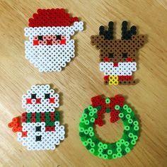 Christmas ornaments perler beads by myjsi000