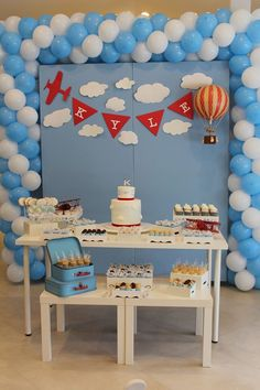 First birthday party Time flies Thank heaven for little boys