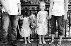 Family on the bridge
