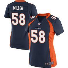 Von Miller Limited Jersey-80%OFF Nike Von Miller Limited Jersey at Broncos Shop. (Limited Nike Women's Von Miller Navy Blue Jersey) Denver Broncos Alternate #58 NFL Easy Returns.