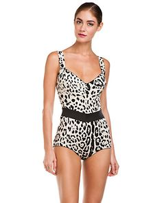 Some of you have to get in on this: Dolce & Gabbana Leopard Print Silk Bodysuit
