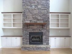 me Gas Fireplace With Stone Best Stone Fireplace Designs Ideas On Ventless Natural Gas Fireplace, Gas Fireplace Logs, Fireplace Shelves, Home Fireplace, Gas Logs, Fireplace Ideas, Stone Fireplace Designs, Stone Fireplaces, Contemporary Gas Fireplace