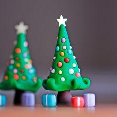 Christmas tree polymer clay - fimo