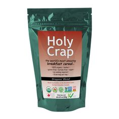 Holy Crap Cereal is non-GMO, gluten free, organic, vegan cereal