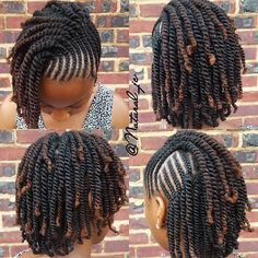 ummy cornrows and twists. Perfect protective style. 👌👌 ( via @natural_jc