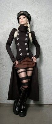 Costume ideas for you and/or the girls! So cute!  Steampunk girls