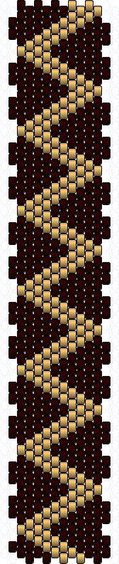 Brick Stitch Bracelet Patterns | Peyote Bracelet Pattern: Extended Hearts