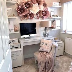 home office ideas for women * home office ; home office ideas ; home office design ; home office decor ; home office organization ; home office space ; home office ideas for women ; home office setup Cozy Home Office, Home Office Space, Home Office Design, Home Office Decor, Home Design, Interior Design, Office Setup, Office Designs, Design Ideas