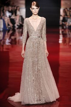 A wedding-worthy gown from the Elie Saab couture show