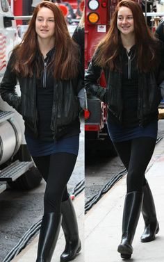 Shailene Woodley on set as Mary Jane Watson in The Amazing Spiderman 2 (IS THIS LEGIT?)