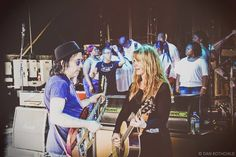 Nancy Wilson with Tony Catania during rehearsals.