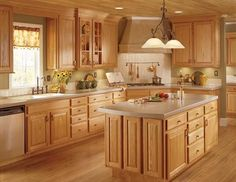 English country style kitchen design has their origins in farming communities and rural cottages. Traditional English country style kitchen design providing a place to sit and engage in relaxing conversation. Modern Country Kitchens, Country Kitchen Designs, Home Kitchens, Kitchen Country, Colonial Kitchen, Oak Kitchen Cabinets, Kitchen Paint, New Kitchen, Kitchen Ideas