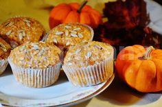 Muffin Semi-Integral de Abobora e Coco ~ Veganana
