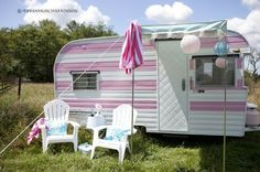 Yes.  Yes.   And, oh yeah- YES!!!      A shabby chic camping trailer makeover results in a pink retro partymobile.
