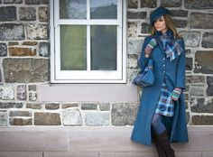 Tartan Spirit Couture by Joyce Young OBE features beautiful garments made from Harris Tweed, Tartan and Cashmere, all made to measure and include our bespoke fitting service. Tartan Dress, Tartan Plaid, Look Fashion, Winter Fashion, Fashion Outfits, Country Fashion, Country Style, Harris Tweed, Jacket Pattern