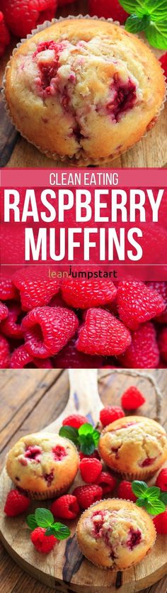 The here presented clean eating raspberry muffins let you indulge wisely without sugar and starches. Get this all-star, easy-to-follow recipe idea now!