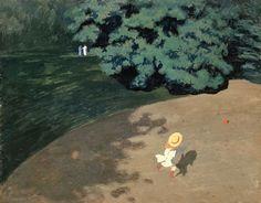 Le ballon ou coin de parc avec enfant jouant de Félix Vallotton