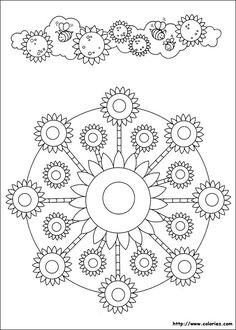 Mandala de tournesol