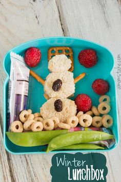 Winter themed bento lunchbox + 4 more Fun Celebration Lunch Ideas for Kids - A Mom's Take
