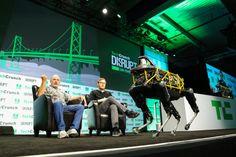 Boston Dynamics CEO Marc Raibert demos the Spot at Disrupt