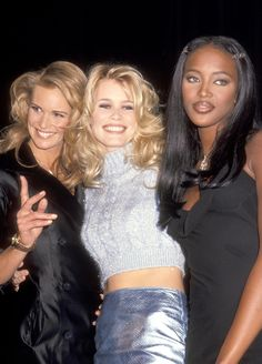 Elle Macpherson, Claudia Schiffer, and Naomi Campbell in 1994