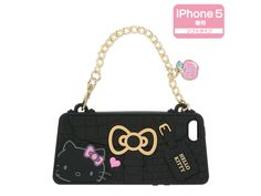 Hello Kitty Bag Shaped Black iPhone 5 Silicone Soft Type Cover Case SANRIO JAPAN