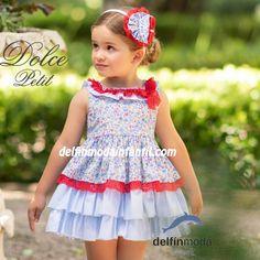 be4a50d97 Comprar Vestido de niña DOLCE PETIT estampado flores azul. Estampados De  FloresVestidos Para BebésModa InfantilPrimavera ...