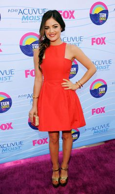 Lucy Hale. 2012 Teen Choice Awards red carpet. Love her dress.