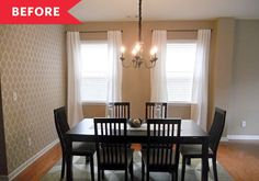 Before and After: A $650 Update Helps Modernize a Dining Room Stuck in Neutral