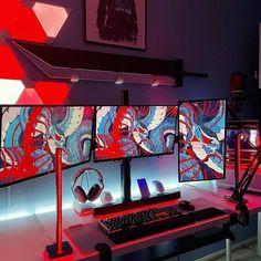 Dope triple setup 🔥 Loving the wallpaper!! 🔴🔵 📸 jasecloud #msigaming #curvedgaming #mpg27cq #mpg27c #gaming #findyourgamesense #csgo #panoraavm #yavuzselim #zulaoyun #panora #steelseries #computer #lgmonitor #gamingpc #gamingshopmalaysia #zula #setup #gamingsetup #pcgaming #battlestation #pc #lggamingmonitor #game #viewsonicgaming #ma610p #gamingpictures #mm530 #h500p #gamingjokes Best Gaming Setup, Cs Go, Product Launch, Games, Wallpaper, Wallpapers, Gaming, Plays, Game